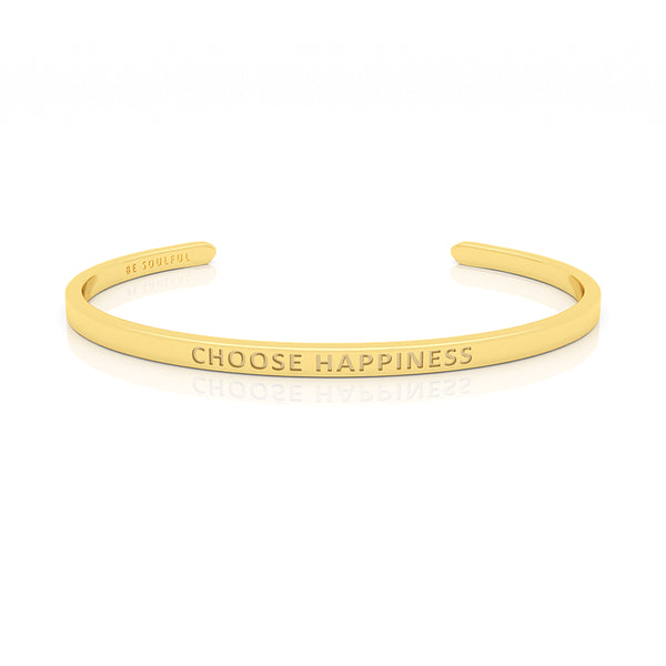 Choose Happiness Armband mit Gravur [Blind] Gold
