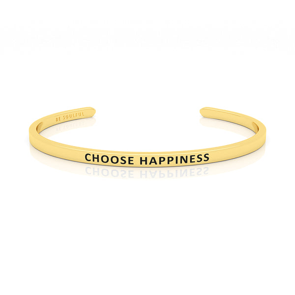 Choose Happiness Armband mit Gravur Gold