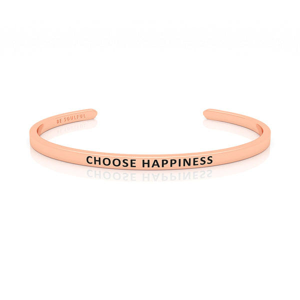 Choose Happiness Armband mit Gravur Rosegold
