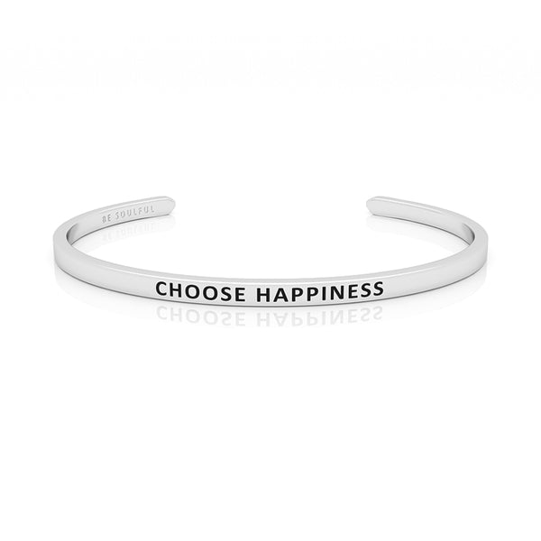 Choose Happiness Armband mit Gravur Silber