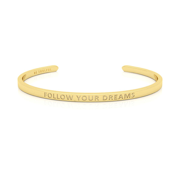 Follow Your Dreams Armband mit Gravur [Blind] Gold