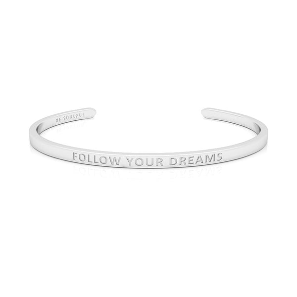 Follow Your Dreams Armband mit Gravur [Blind] Silber
