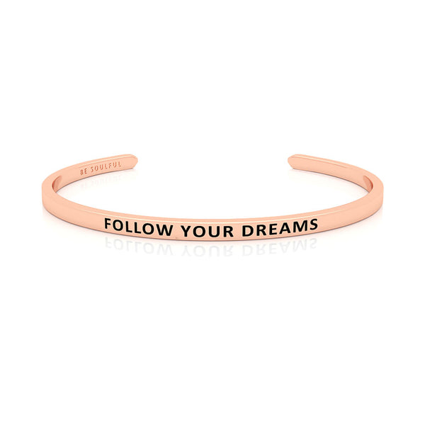 Follow Your Dreams Armband mit Gravur Rosegold