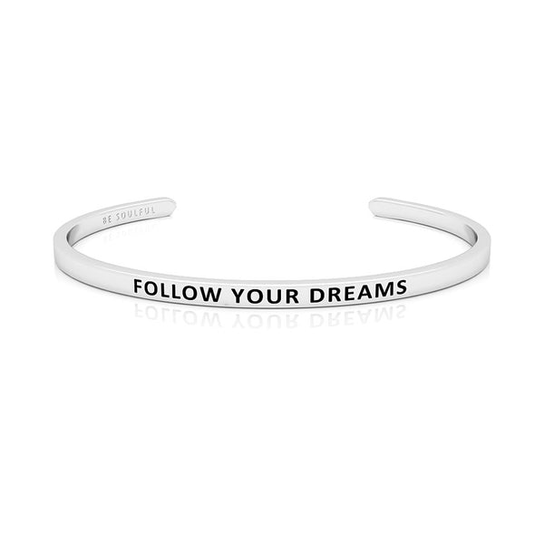Follow Your Dreams Armband mit Gravur Silber