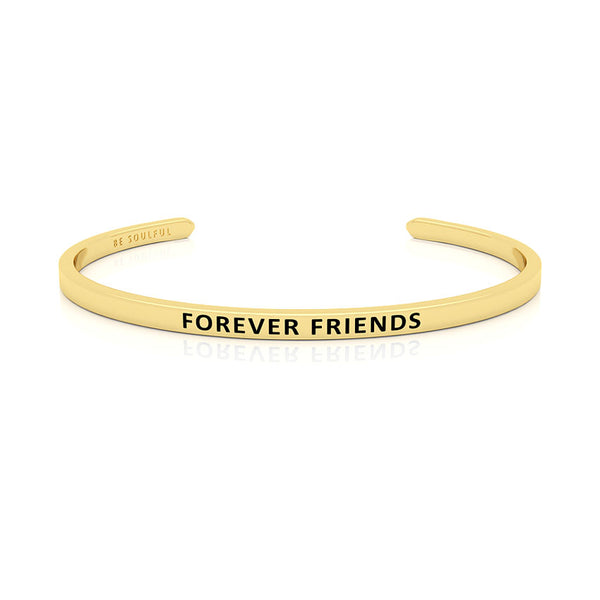 Forever Friends Armband mit Gravur Gold