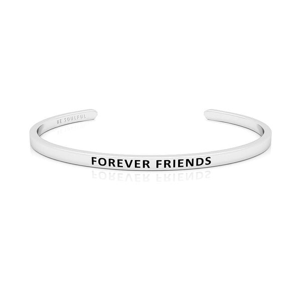 Forever Friends Armband mit Gravur Silber