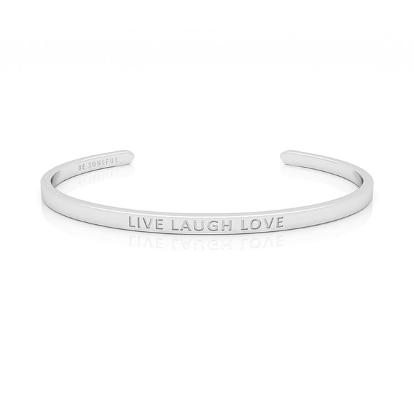 Live Laugh Love Armband mit Gravur [Blind] Silber