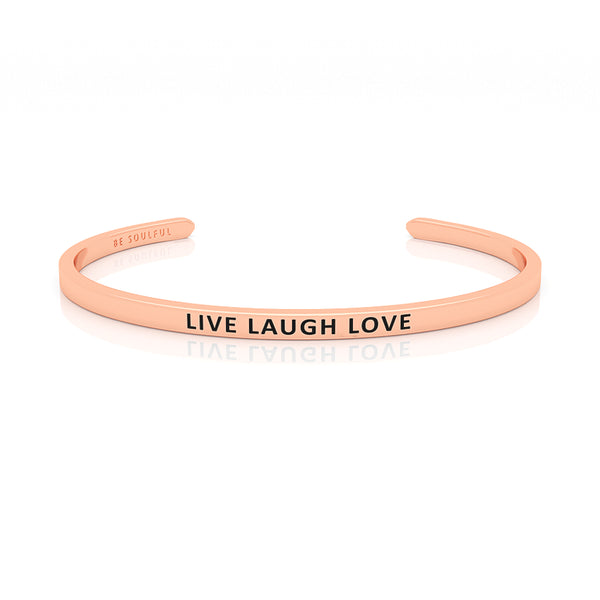 Live Laugh Love Armband mit Gravur Rosegold