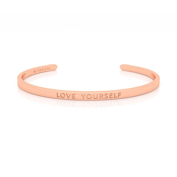 Love Yourself Armband mit Gravur Rosegold
