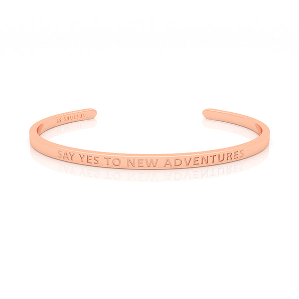 Say yes to new Adventures Armband mit Gravur [Blind] Rosegold