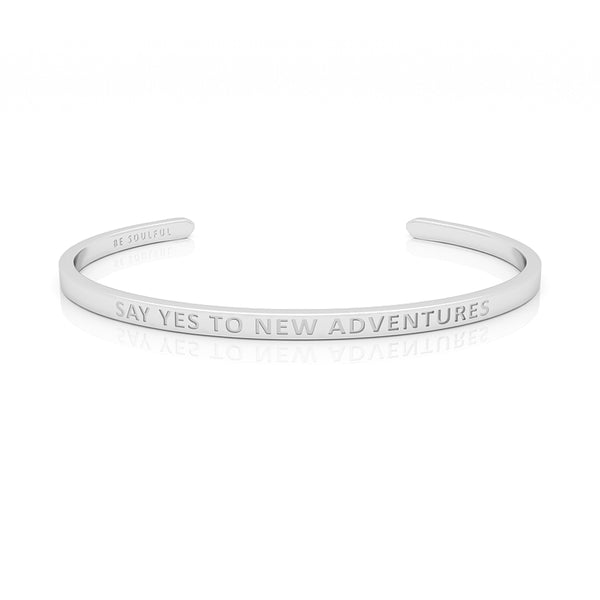 Say yes to new Adventures Armband mit Gravur [Blind] Silber
