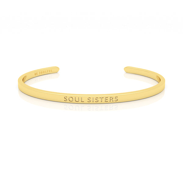 Soul Sisters Armband mit Gravur [Blind] Gold