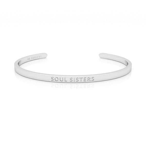 Soul Sisters Armband mit Gravur [Blind] Silber