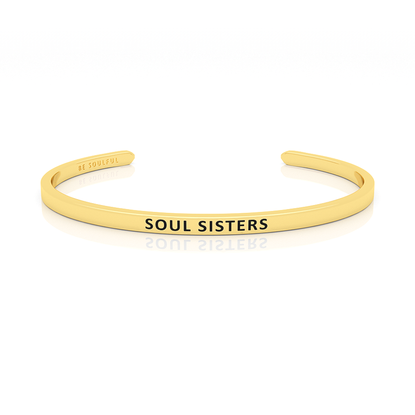 Soul Sisters Armband mit Gravur Gold