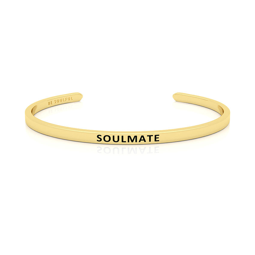 Soulmate Armband mit Gravur Gold