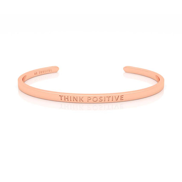 Think Positive Armband mit Gravur Rosegold
