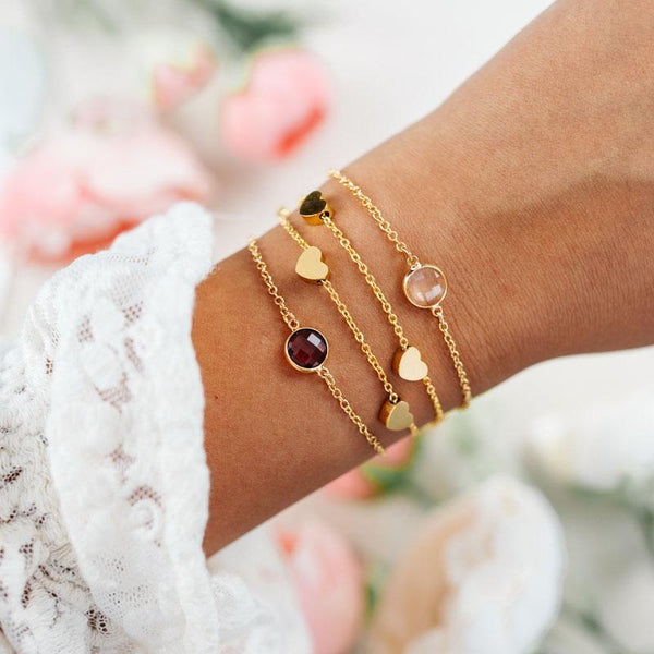 Crystal Bracelet und Love Bracelet in gold