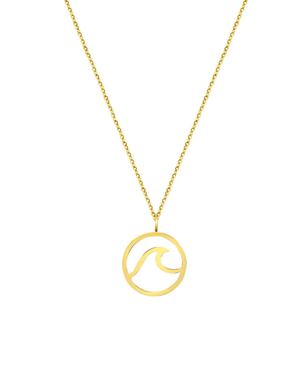 Wave Necklace Gold
