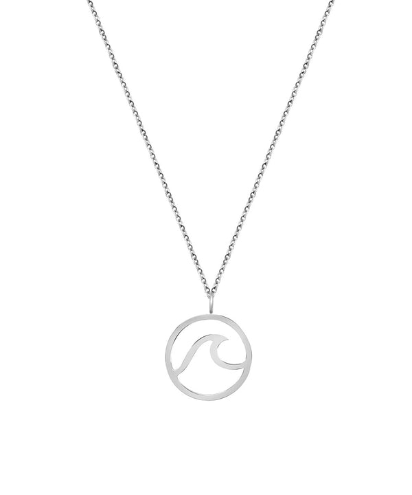 Wave Necklace Silber
