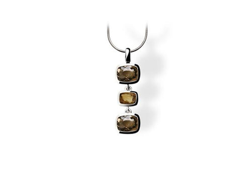 P4335 PENDANT SMOKEY QUARTZ/HONEY QUARZT - Joryel Vera Jewelry