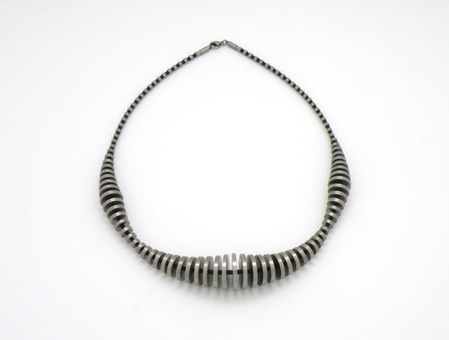 179920290  CHIP ART STEEL NECKLACE - Joryel Vera Jewelry