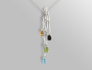P6126 TASSLES >  4 PENDANTS THAT MAKE 1 NECKLACE - Joryel Vera Jewelry