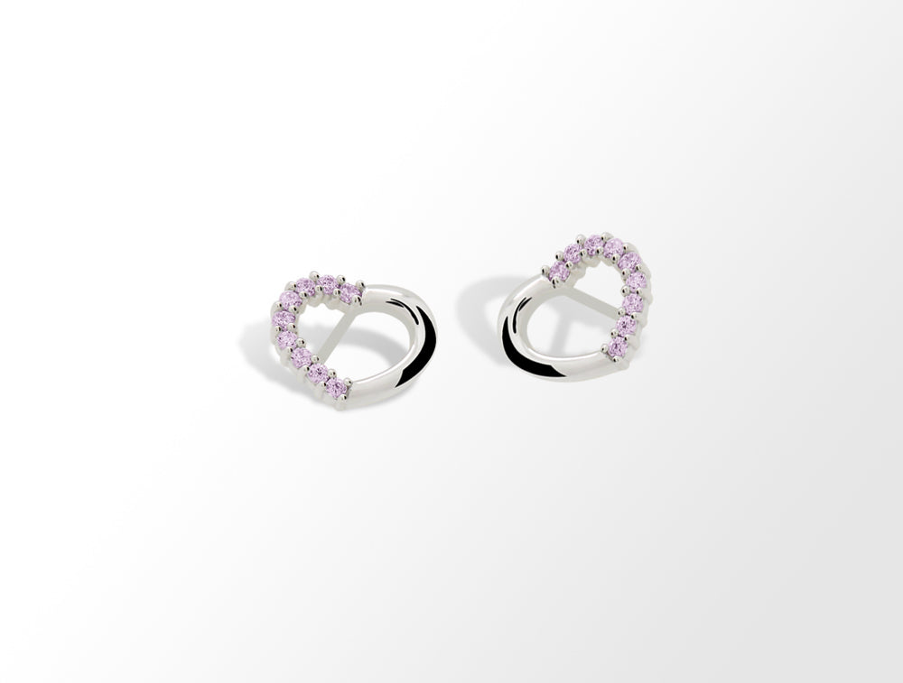 E4374 SWORAVSKI PINK COLOR EARRING