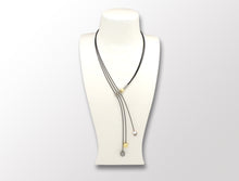 160087492  SWING Y/PG SPHERE & PEARL NECK PIECE - Joryel Vera Jewelry