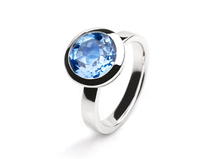 R3629 12mm BLUE TOPAZ RING - Joryel Vera Jewelry