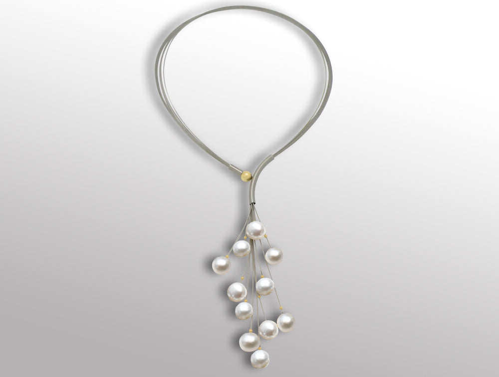 120085792  SWING 10 mm PEARL CLUSTER NECK PIECE - Joryel Vera Jewelry