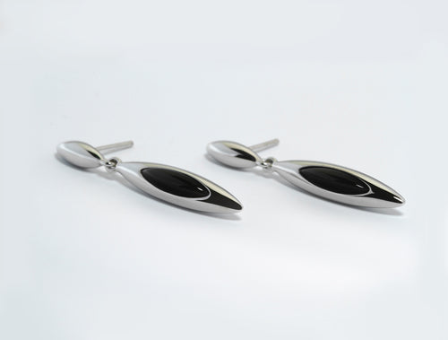 E4868 BLACK ONYX EARRING - Joryel Vera Jewelry