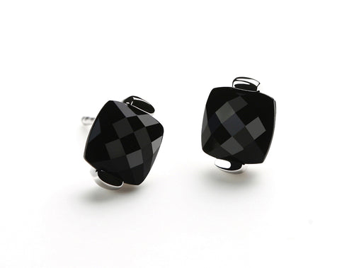 E3916  CLASSIC BLACK ONYX POST EARRING - Joryel Vera Jewelry