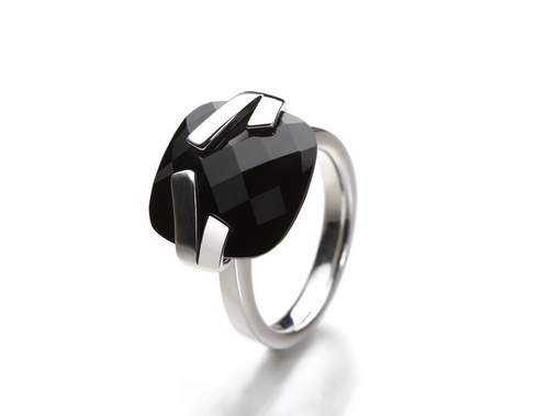 R4386 SIGNATURE BLACK ONYX RING - Joryel Vera Jewelry