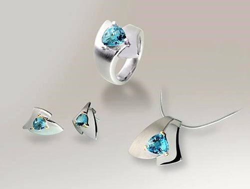CONTEMPORARY DESIGN w/ BLUE TOPAZ - Joryel Vera Jewelry