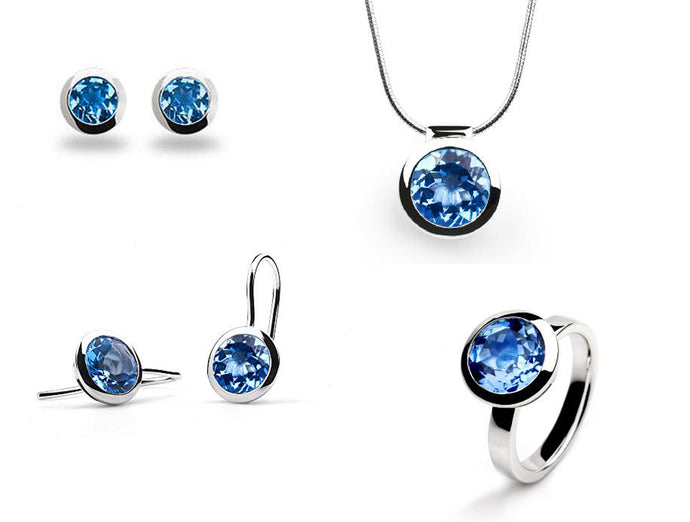 CLASSIC BEZEL SET BLUE TOPAZ COLLECTION - Joryel Vera Jewelry