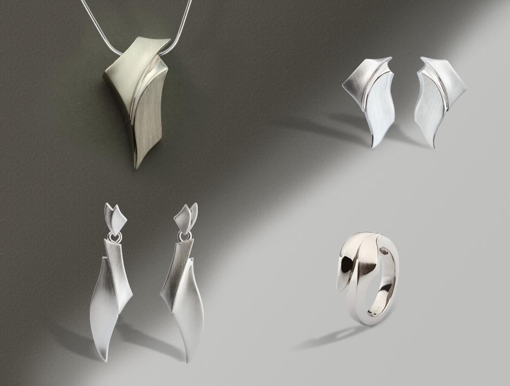 AN ALL SILVER SET WITH AN ARTISTIC TOUCH - Joryel Vera Jewelry