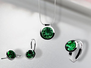 CLASSIC BEZEL SET GREEN QUARTZ COLLECTION - Joryel Vera Jewelry