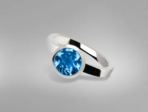 R3328 8mm BLUE TOPAZ RING - Joryel Vera Jewelry