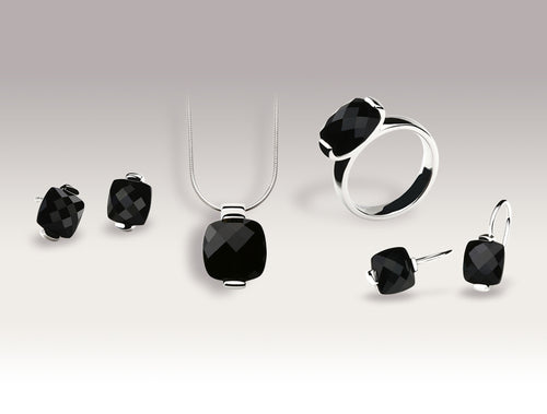 BRIOLETTE CUT BLACK ONYX SET - Joryel Vera Jewelry