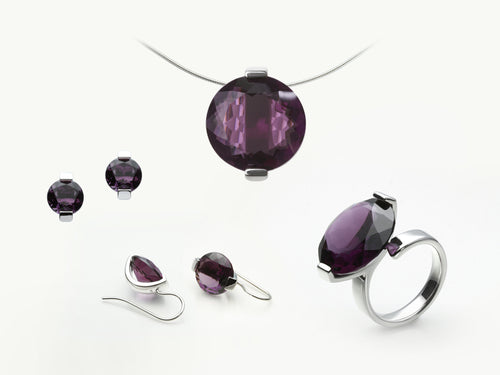 CONTEMPORARY STONE SETTINGS FOR AMETHYST