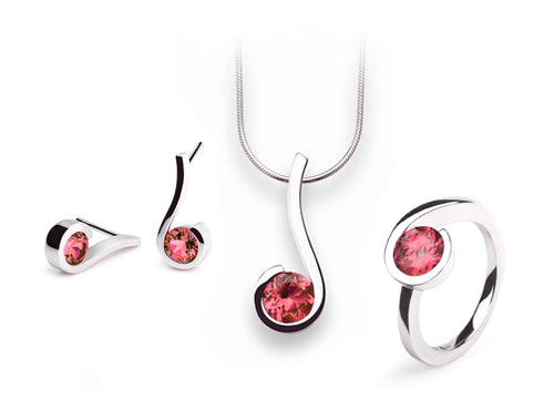 PINK TOPAZ MUSICAL NOTES COLLECTION - Joryel Vera Jewelry