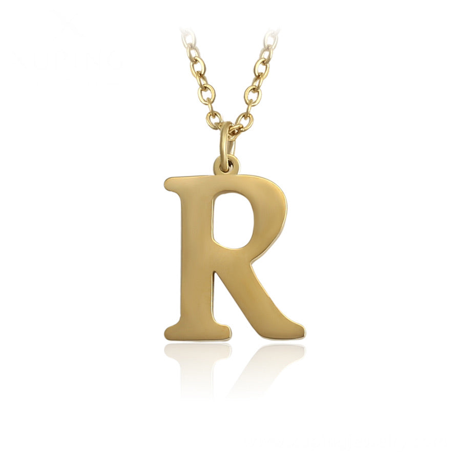 14K Gold Plated Initial R Necklace