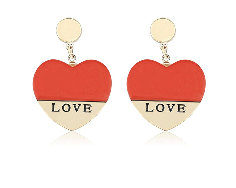 14K Gold Plated Environmental Copper Love Earring