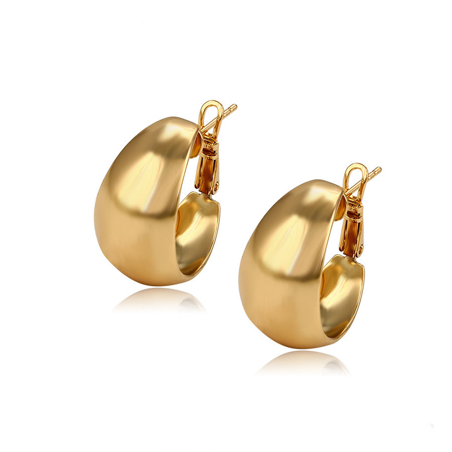 Elegant 18K Gold Plated Hoop Earring