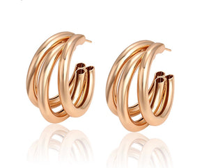 18K Gold Plated Big Hoop Earring