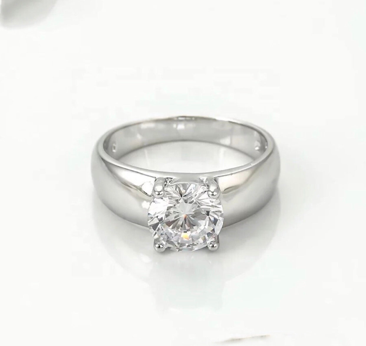 Crystal Silver Color Ring