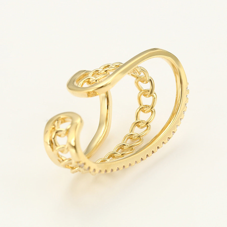 14K Gold Plated Chain Ear Cuff