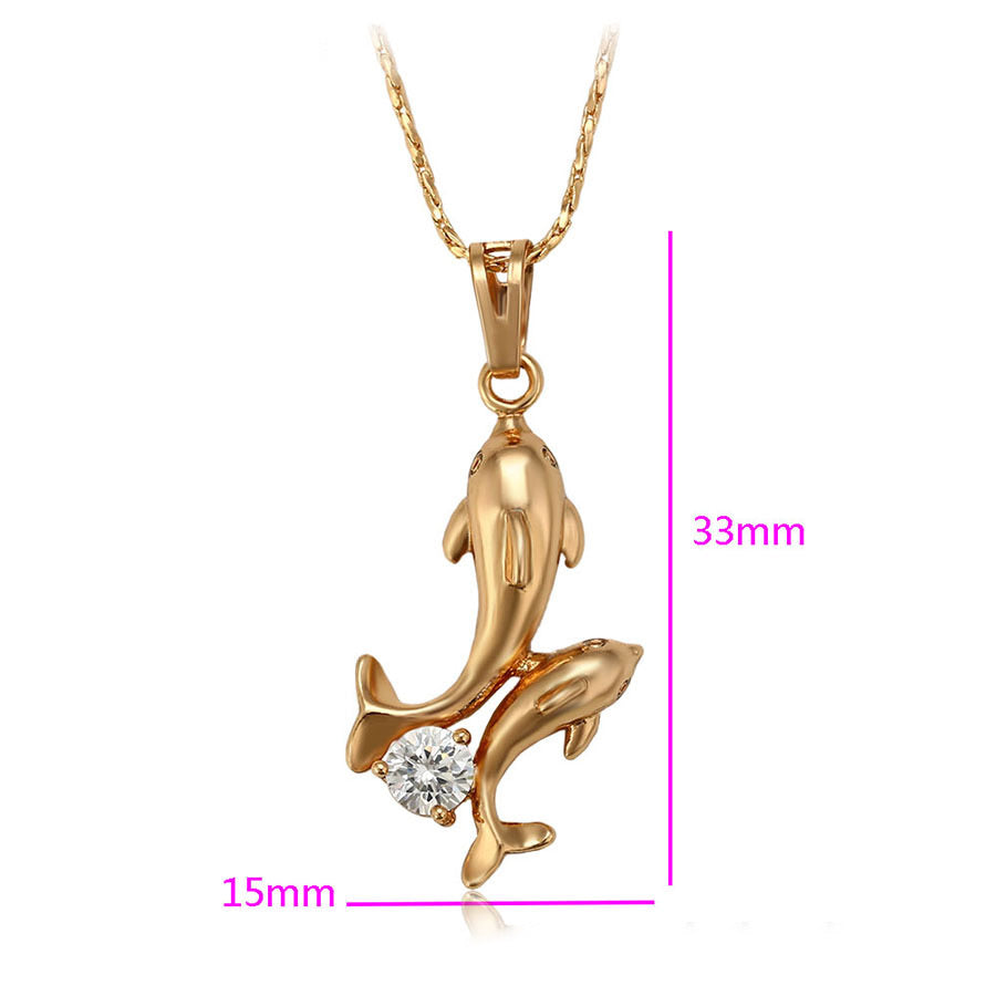 18K Gold Plated Dolphin Necklace