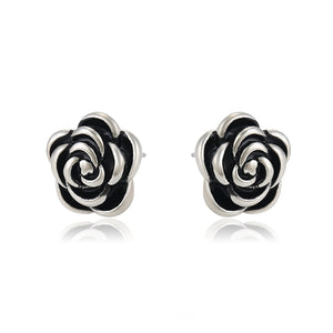 Fashion Black Rose Small Earring