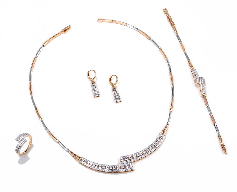 Gold Plated Luxury Jewelry Set